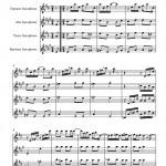 Joplin: Maple Leaf Rag for Saxophone Quartet