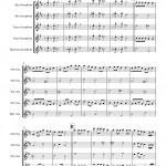 Waltzing Matilda for Saxophone Quartet AATB sheet music