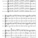 Waltzing Matilda for Saxophone Quartet SATB sheet music