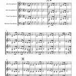 "sheet music for Wagner: Bridal Chorus ""Here Comes the Bride"" for saxophone quartet"