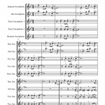 Pierpont: Jingle Bells for Saxophone Quintet SATTB sheet music
