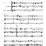 Pierpont: Jingle Bells for Saxophone Trio SAB sheet music