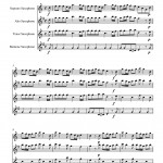Vivaldi: Spring from The Four Seasons for Saxophone Quartet sample page