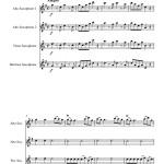 sheet music Mozart Eine Kleine Nachtmusik for Saxophone Quartet AATB