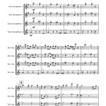 St. James Infirmary for Saxophone Quartet AATT sheet music