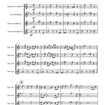 St. James Infirmary for Saxophone Quartet SATT sheet music