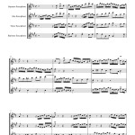Bach: Invention no 1 for Saxophone SATB sheet music