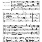 sheet music Beethoven: Für Elise for Saxophone Trio