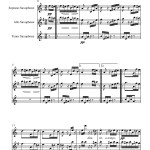 sheet music for Beethoven: Für Elise for Saxophone Trio
