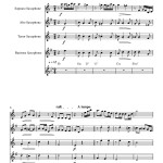 Gardel - El dia que me quieras - sample page - saxophone quartet sheet music