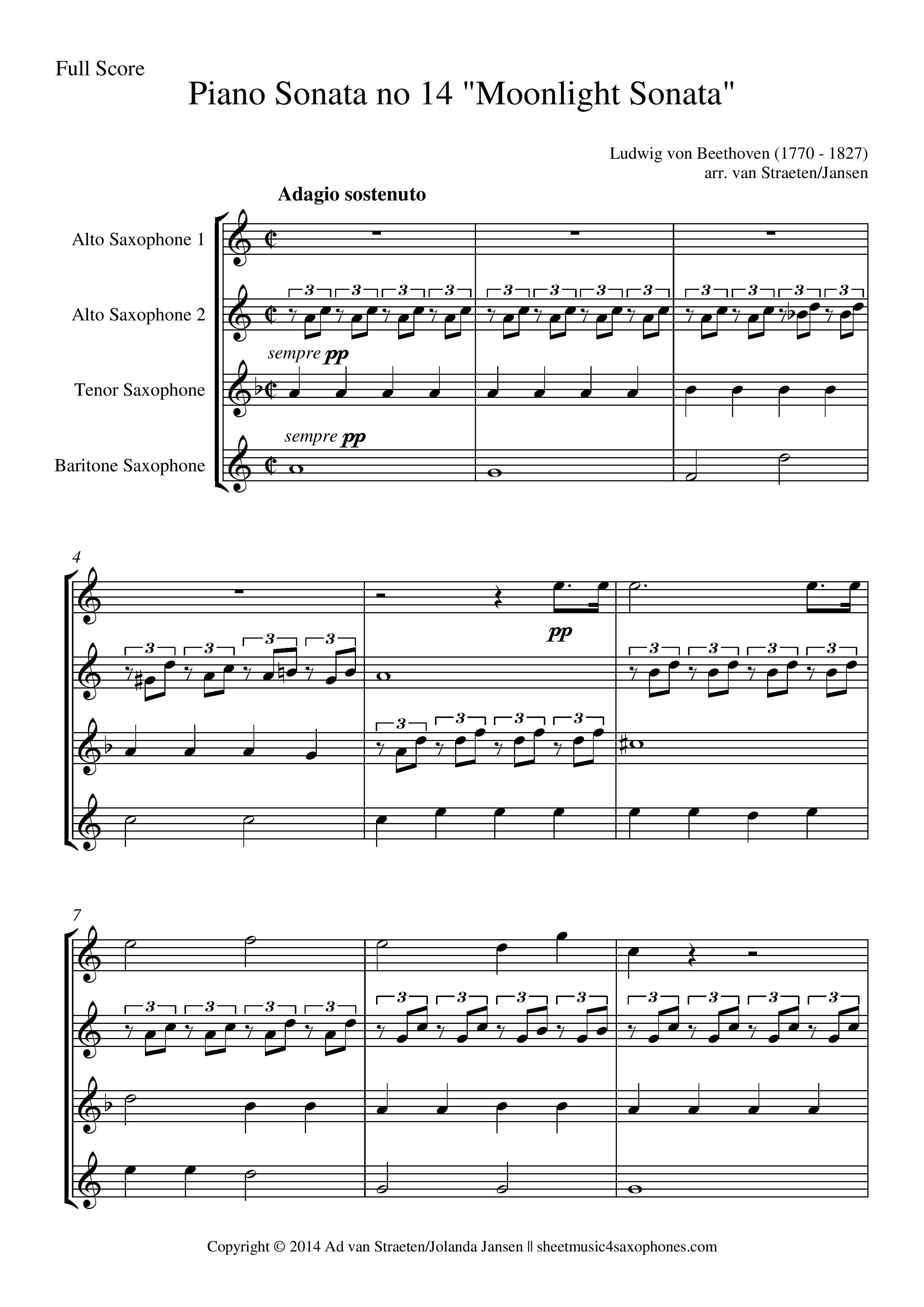 moon light sonata sheet music pdf