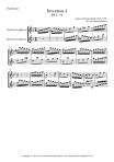Bach: Invention no 4 for Soprano & Baritone