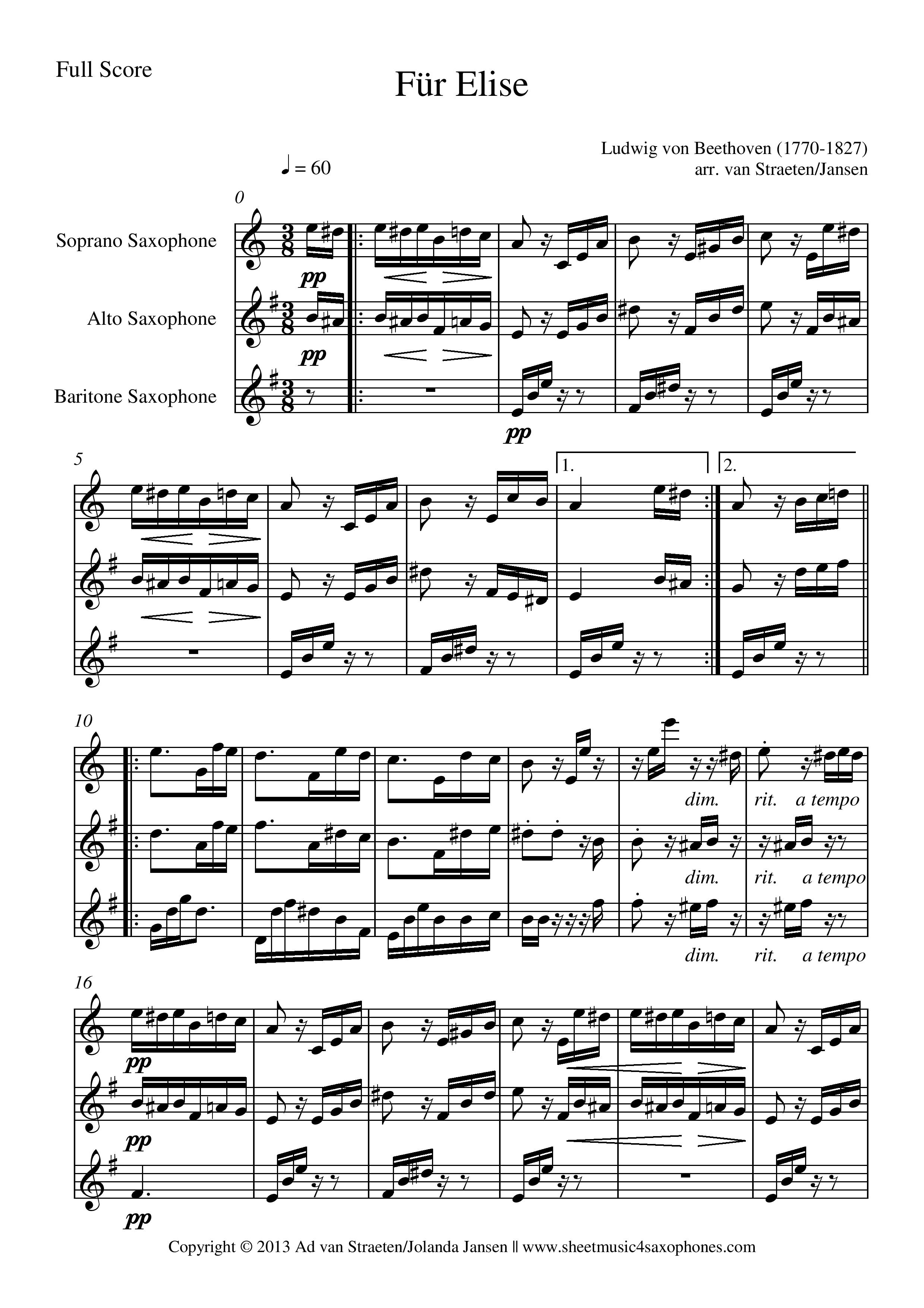Beethoven Fur Elise Pdf
